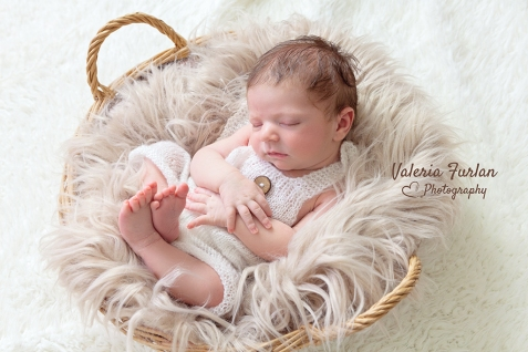 Photo bebe dans panier